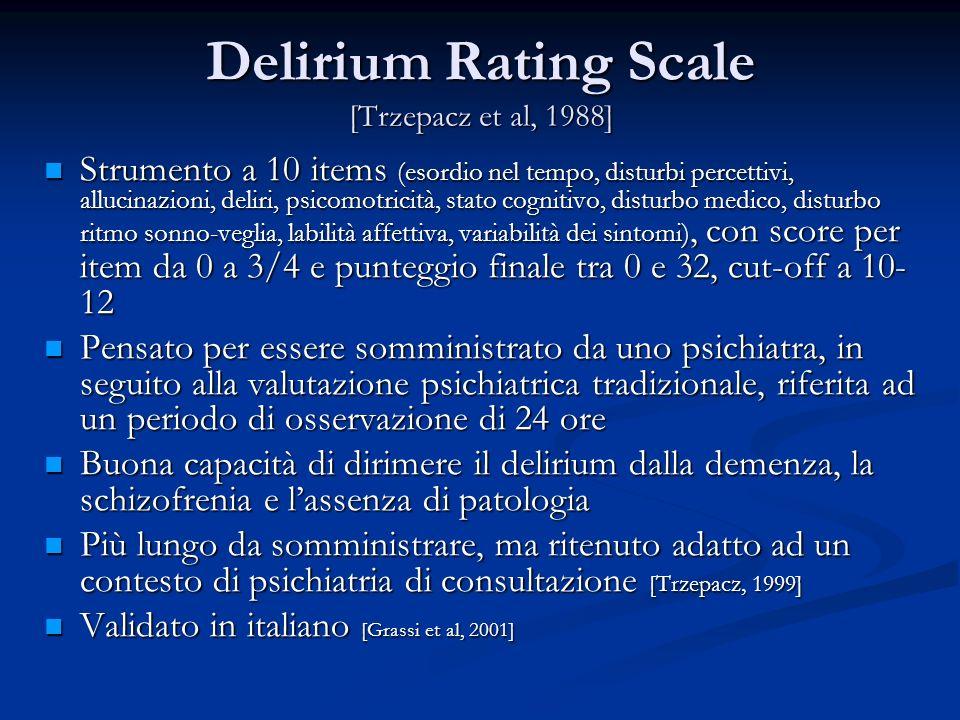 Delirium Rating Scale [Trzepacz et al, 1988]
